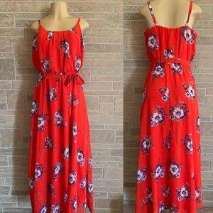 Robbie Bee Red Floral Dress